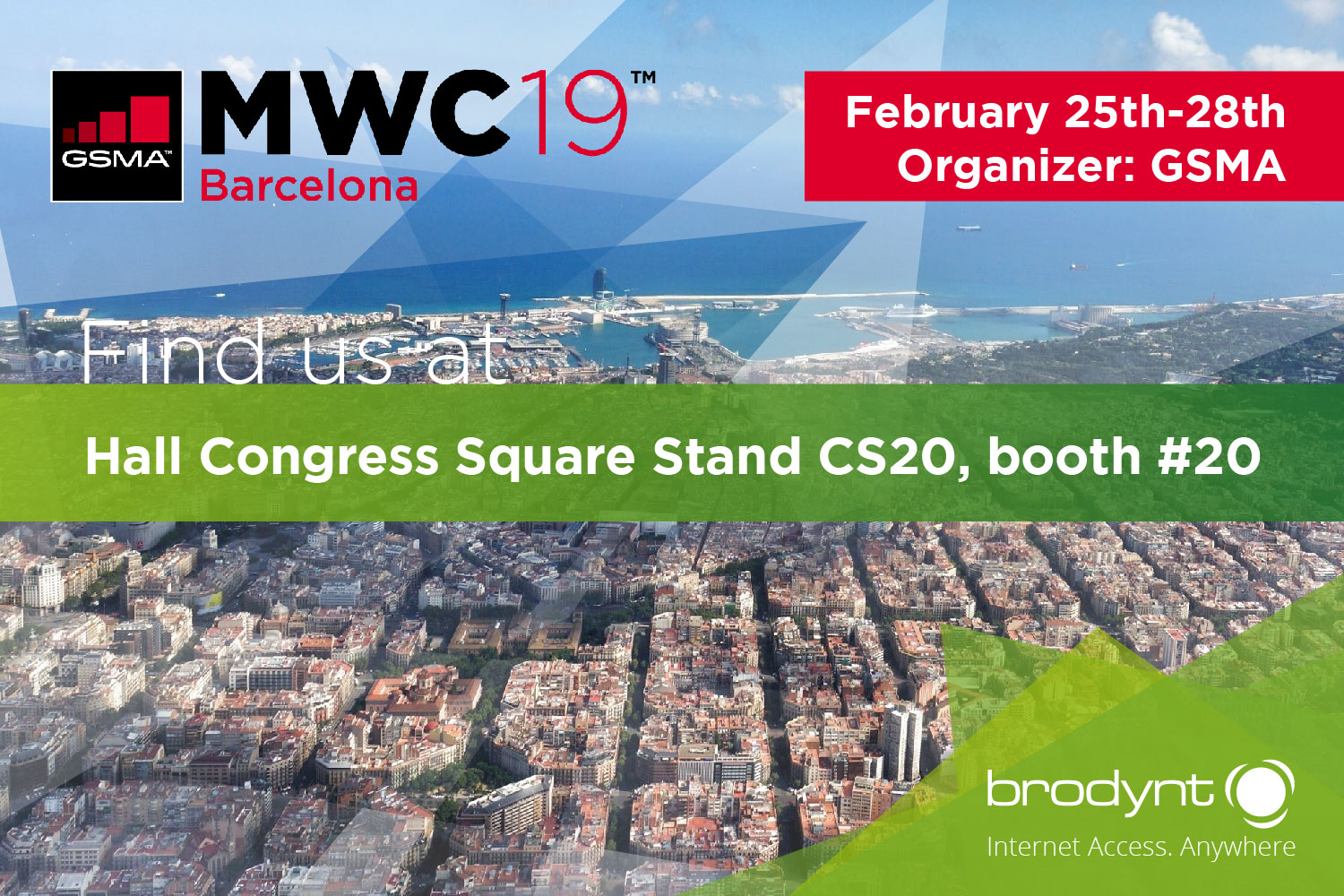 Brodynt at Mobile World Congress Barcelona 2019
